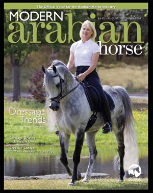 Mirage V++// graces the cover of Modern Arabian Horse magazine