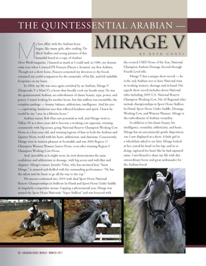 Mirage V++++// featured in Arabian Horse World Newsstand Issue
